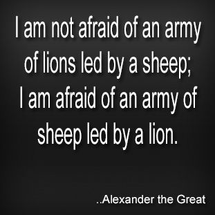 alexander the great quotes on fear