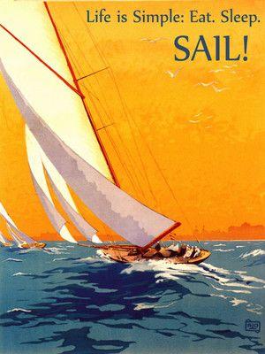 Sailing Life Is Simple Eat Sleep Sail