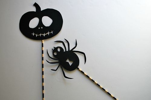 Spider and Jack o' lantern Shadow Puppets | Flickr - Photo Sharing!