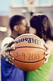 Cute basketball couple pictures