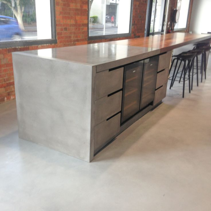 POPconcrete Benchtop with concrete drawer fronts - at The Buchan Group, Fortitude Valley