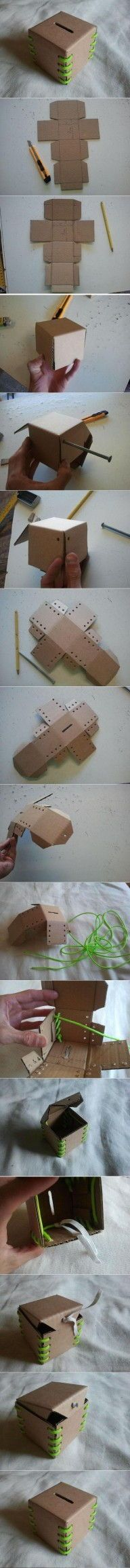 DIY Cardboard Piggy Bank DIY Projects