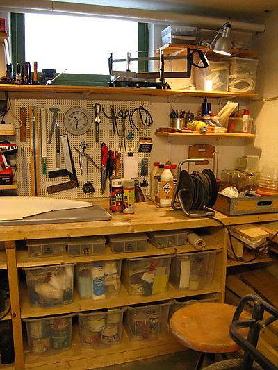 Pinterest the world s catalog of ideas for Small basement workshop ideas