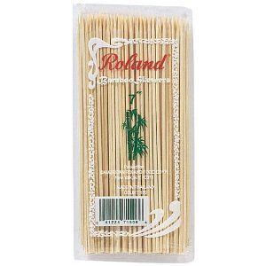 "Roland Bamboo Skewers 7"" Length, 100 Per Pack (3 Pack, Total 300 Skewers) by Roland. $12.87. 1st Quality Roland Skewers made of 100% recyclable bamboo. Each skewer measures 7 inches in length. Individually sealed packs of 100 skewers.. Offer includes 3 packs of 100 skewers each, total 300 skewers. Made in Thailand.. First Quality Roland Skewers made of 100% recyclable bamboo.  Each skewer measures 7 inches in length.  Offer includes 3 packs of 100 skewers each, total 300 skewers...."