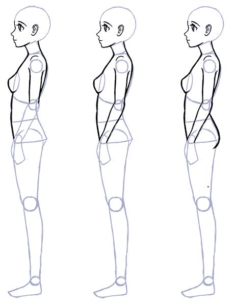 how to draw an anime body and head