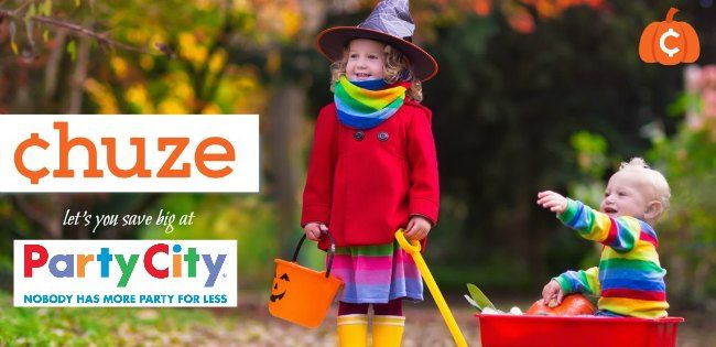Save big this Halloween with this $20 off Party City Coupon thanks to chuze. Chuze is a free app available on iTunes and at the Google Play store.