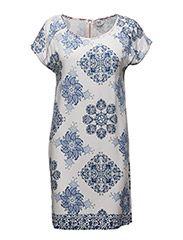 PORCELAIN PRINT DRESS - M.BLUE