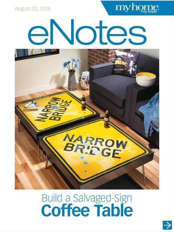 Les 28 meilleures images du tableau fait en panneau sur pinterest panneau meubles industriels - Table basse panneau signalisation ...