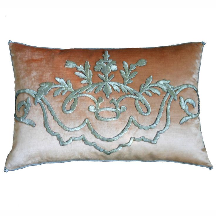 b vizard pillow | Antique Ottoman Empire Silvery Gold Raised Metallic Embroidery