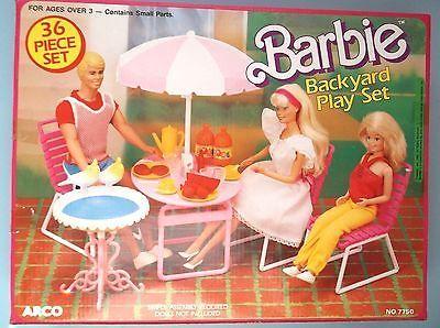 #7750 BARBIE BACKYARD PLAY SET