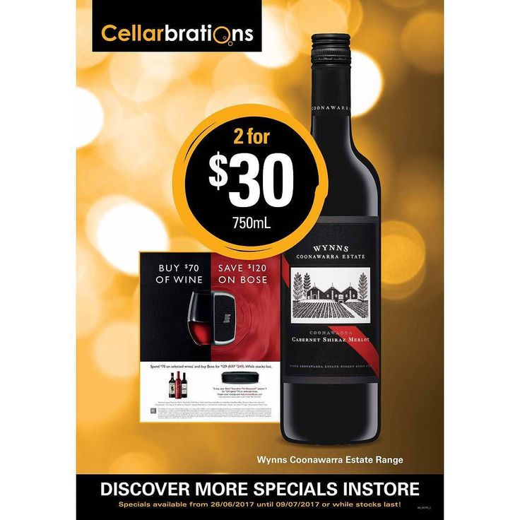 Specials Highlight Cellarbrations at Beeliar:  SHOP ONLINE: www.cellarbrationsbeeliar.com/page/specials  -  Specials valid until 09/07/2017 or while stocks last. See in-store for more details. -  #cellarbrationsatbeeliar #cellarbrationsbeeliar #oliveris #beeliar #wine #beer #spirits  #cider #specials #weeklyspecials #catalogue #bargain #beeliarshoppingcentre #meveestate -  We are serious about the responsible service of alcohol. Alcohol products are not sold to  under-18s. If you are lucky…