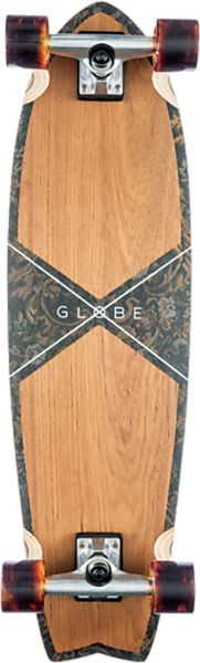 "Globe Chromantic Teak / Floral Couch Complete Cruiser Skateboard - 9.75"" x 33"""