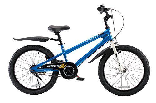 RoyalBaby BMX Freestyle Kids Bike Boys Bikes and Girls Bikes Gifts for children 20 inch wheels Blue