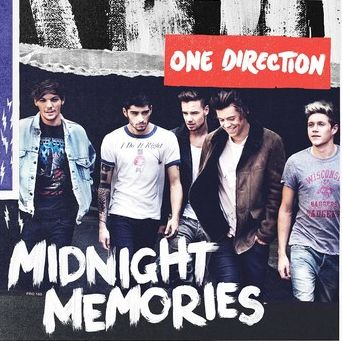Midnight Memories - One Direction  - they made it like it's midnight in the background and like its a photograph . Like a memory so it really brings out something with the title of the album