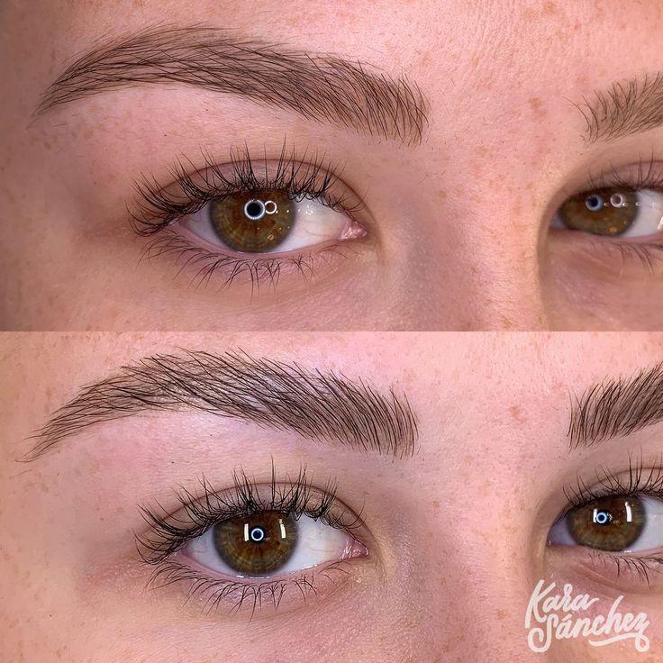Full Brow Lamination using Lacquer at Kara Sanchez Beauty