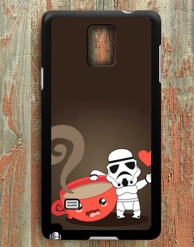 Stormtroopers Loves Coffee Samsung Galaxy Note 4 Case