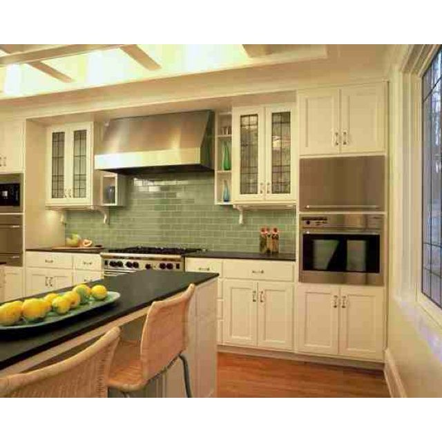 Green Kitchen Backsplash: 17 Best Ideas About Green Subway Tile On Pinterest