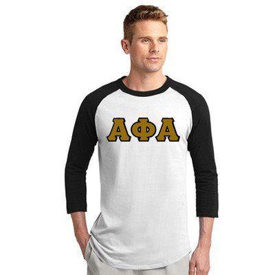 Alpha Phi Alpha Fraternity Raglan Baseball Tee - Sport-Tek T200 - TWILL