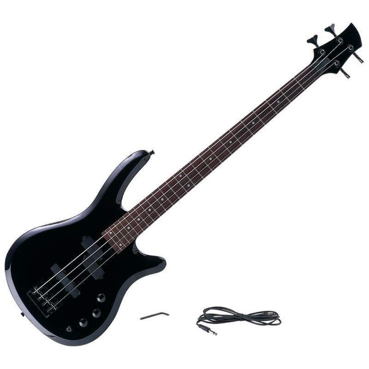 4 String Electric Bass Guitar With Amp Cord New Free Shipping #Maxam