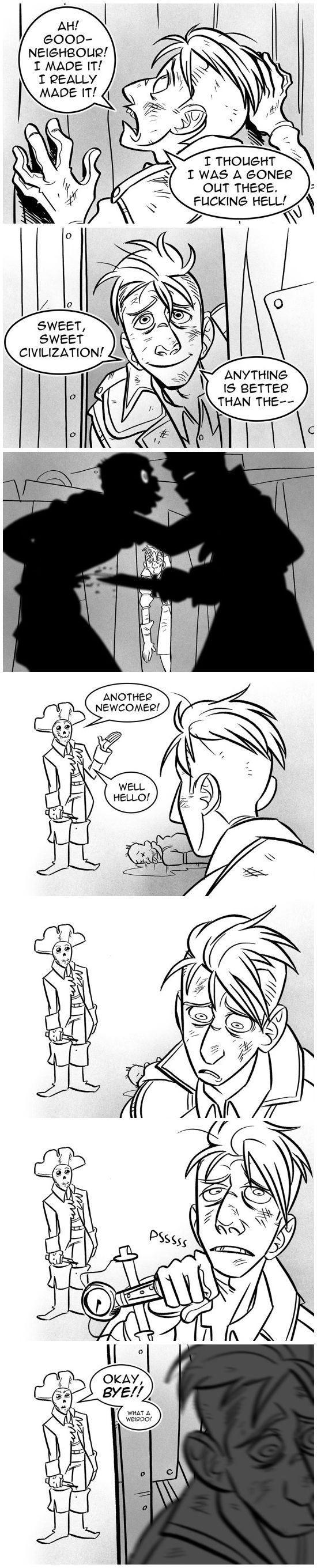 Fallout 4 | Buttons meets Hancock. That was actually the moment I fell in love with him.