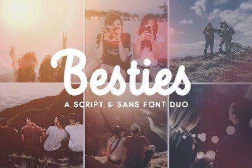 designeour:    Besties - Script & Sans Font Duo by Ian...