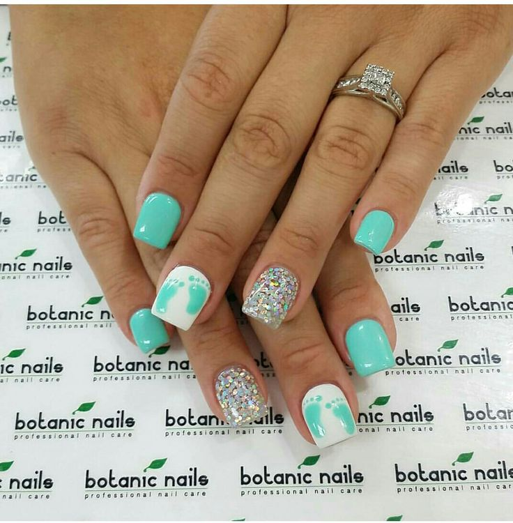 baby shower nails ideas