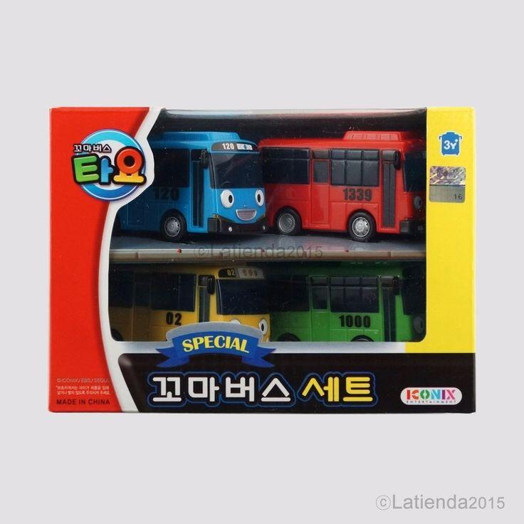 #Tayo #TheLittleBus #Special 4pcs Set #Korea #TV #Animation #Character #Plastic #Toy #Iconix
