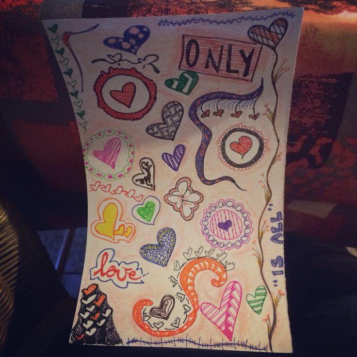 """Art journal """"love"""""""
