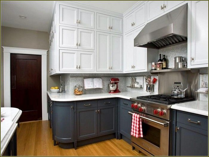 Best Kitchen Grey Lower Cabinets White Upper Google Search 400 x 300