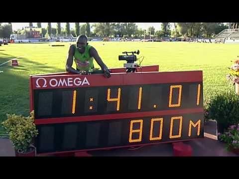 Rieti 2010 M-800m David Rudisha New World Record 1:41.01!