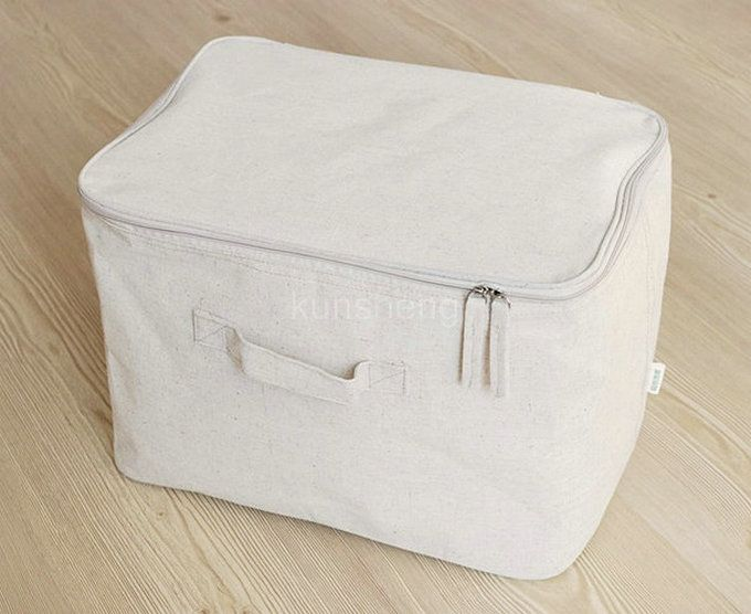 A Simple Cotton Canvas Zipper Storage Bag Storage Box In Storage Bags From Home Garden On Aliexpress Com Alibaba G Bag Storage Linen Storage Canvas Storage