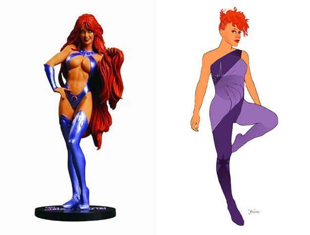 Starfire | 12 Lady Superhero Costumes Redesigned By Ladies