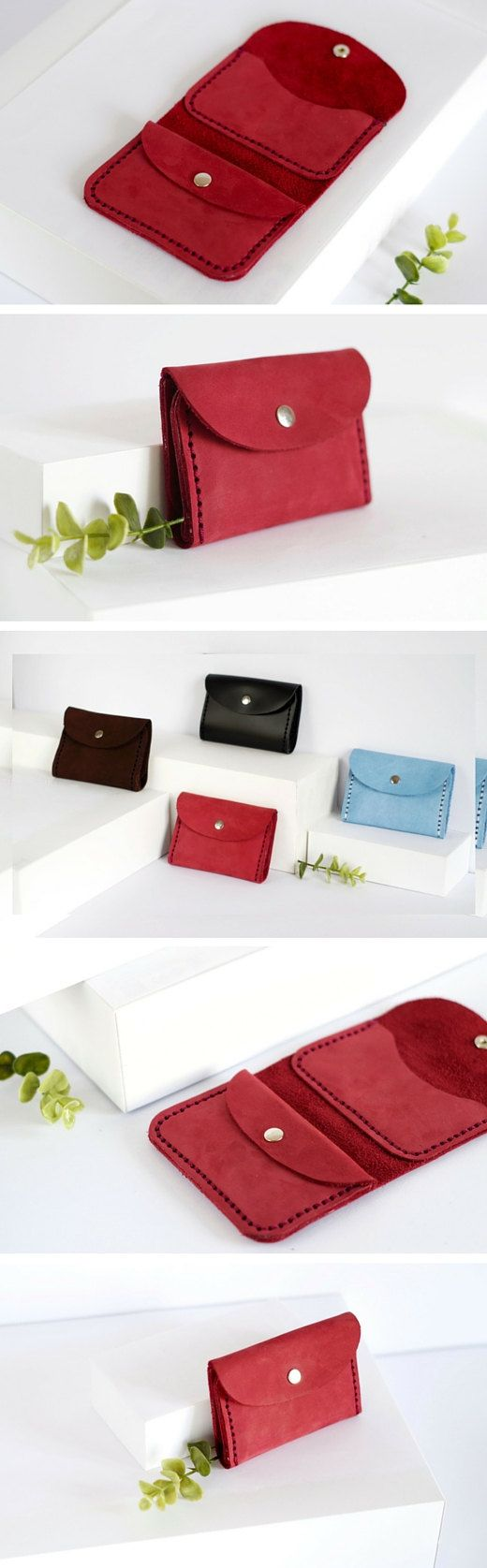 Small leather wallet Mini wallet Credit cards wallet Coins purse Coins pocket Minimalist wallet Money clip wallet Women's leather wallet