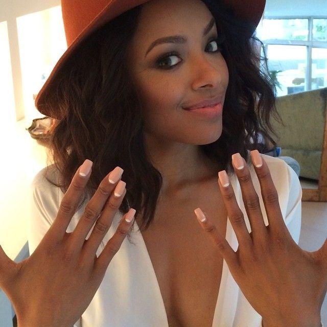 Celebrity Nail Secrets: Kat Grahams NCLA Nail Wraps in Jennas Nude Moon