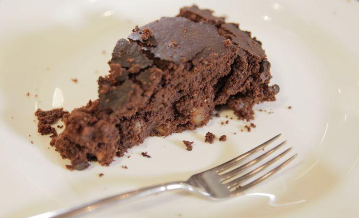 La torta cioccopere è bella & buona e ha il gusto giusto!
