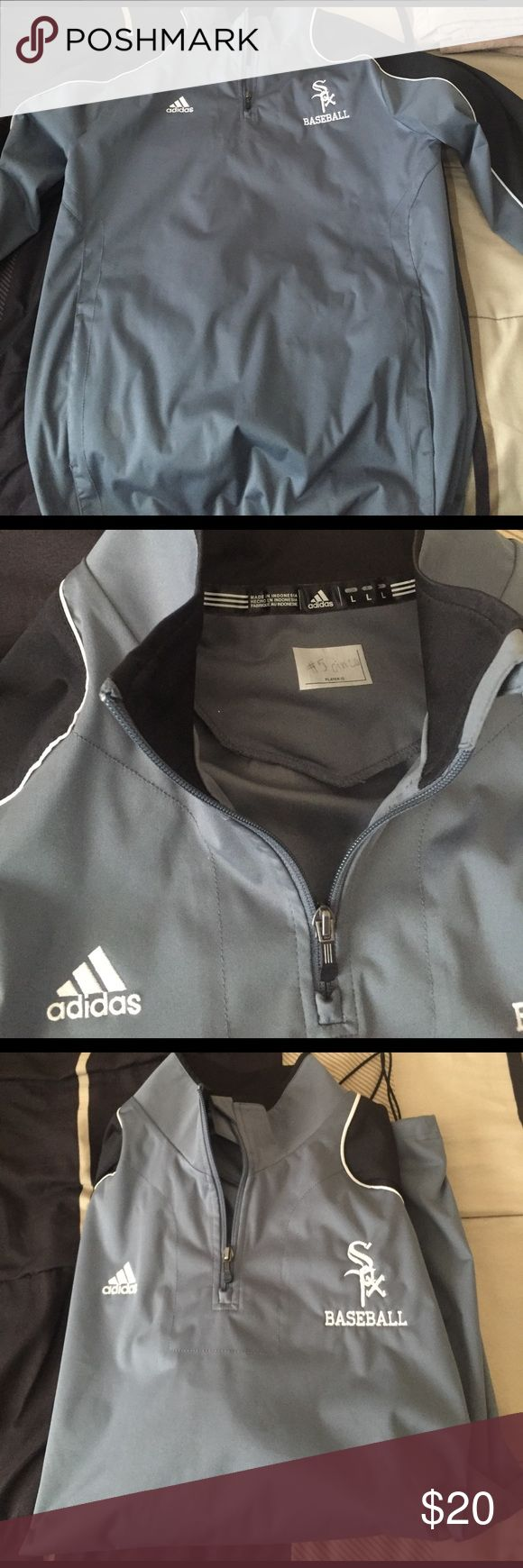 Adidas Baseball Pullover Size L -Perfect condition trying to get rid of un-worn clothes! Jackets & Coats Bomber & Varsity
