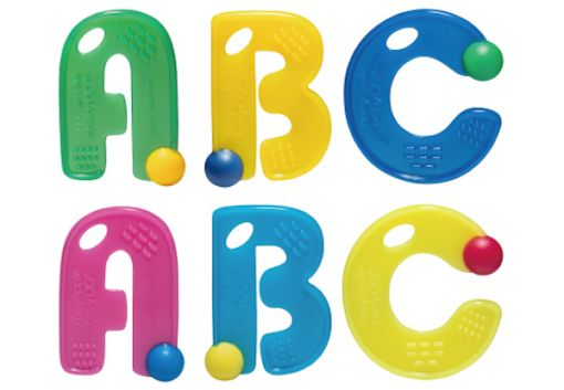 Mayapple-Teether Set of 3 ABC $17.95 www.pennyfarthingkids.com.au #pennyfarthingkids  #babies #mayapplebaby