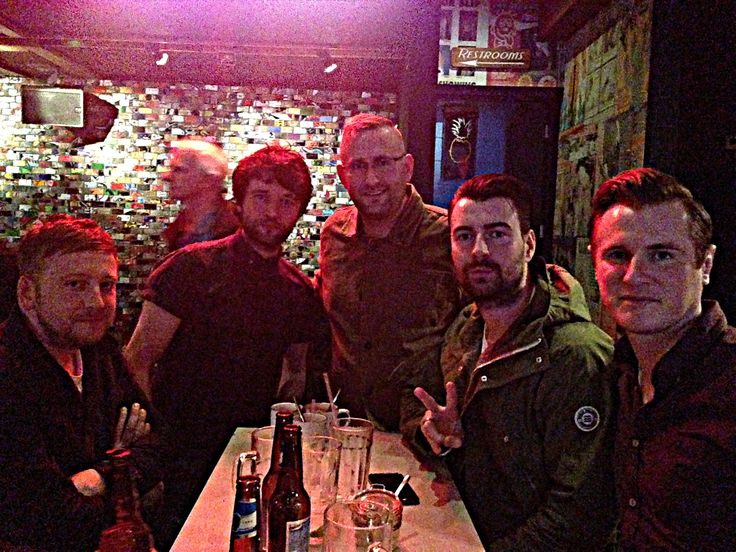 The Courteeners.  In a bar in The Northern Quarter.