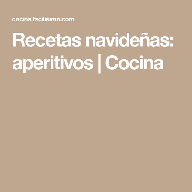 Recetas navideñas: aperitivos   Cocina