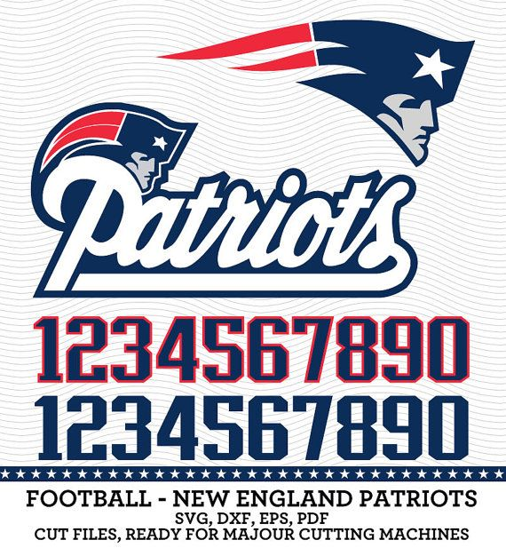 New england patriots football logo svg dxf by svgsilhouettedxf