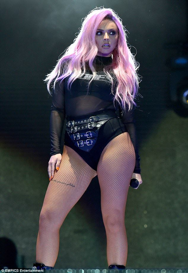Pink to make the boys wink! Jesy Nelson, 25, put her tumultuous relationship firmly behind...