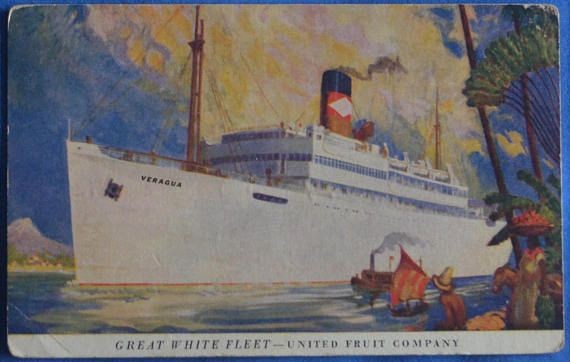 Veragua Great White Fleet United Fruit Company Steam Ship USS