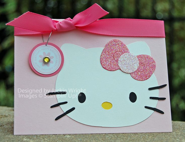 Hello Kitty sparkles for World Card Making Day – Card Making Birthday Card Ideas