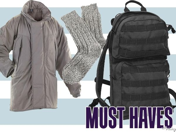 OUTDOOR CLOTHING  --  WINTER ESSENTIALS Must Haves: 10 Winter Essentials You Should Buy At An Army-Navy Surplus Store