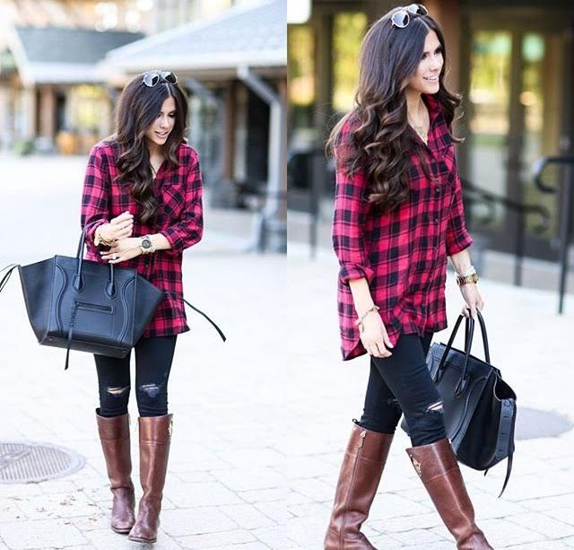 Get the look with our Perfect Flannel Tunic! www.psiloveyoumoreboutique.com