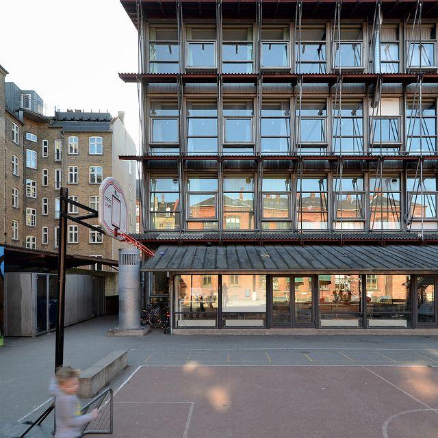 hans christian hansen, architect: gasværksvejens skole / school, copenhagen 1969-1971