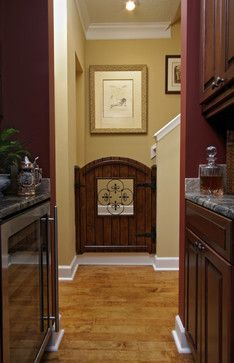 baby gate. straighten the top edge and  get rid of the open insert.