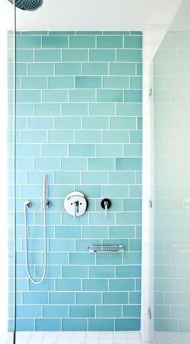 Recycled Glass Tiles Bathroom Aqua Subway Tile So …