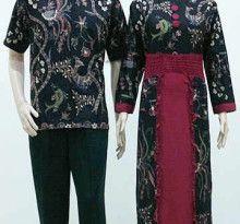 Baju Batik Sarimbit Gamis Zahara Ikan Hitam - Fashion Baju Batik Modern Pria dan Wanita Grosir Batik Terlengkap, Termurah dan Terpercaya