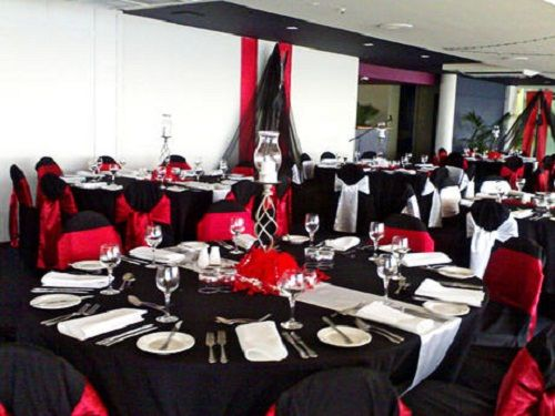 Red and black party decorations wedding decorations red for Red decoration for wedding